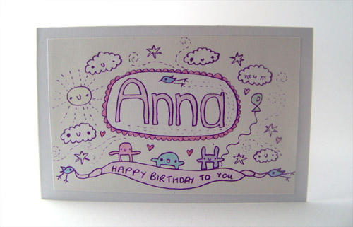 Birthday card for Anna