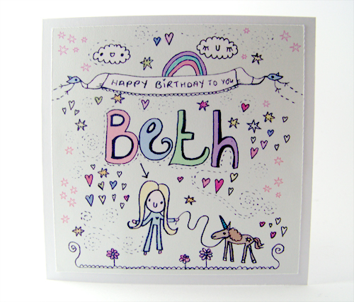 Birthday card for Beth