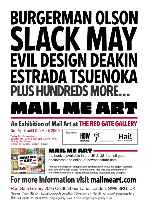 Mail Me Art exhibition poster