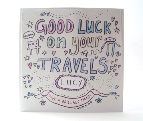 Good Luck card for Lucy