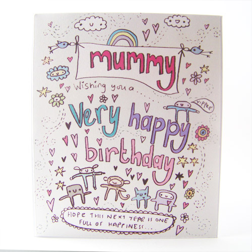 Birthday card for mummy