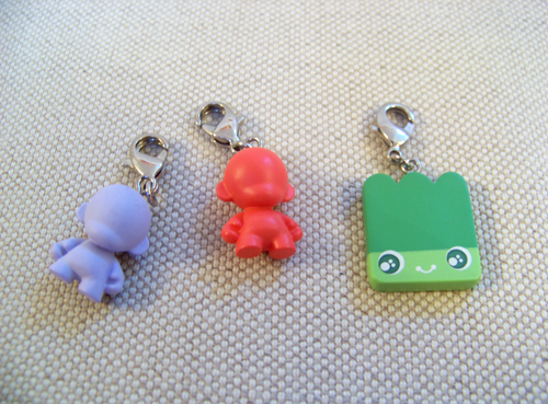 Munny and Zippit zipper pulls