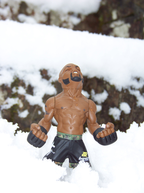 UFC Rampage Jackson in the snow