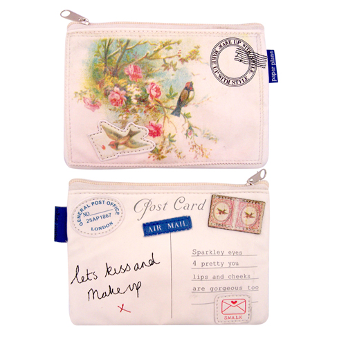 Paper Plane make-up bag