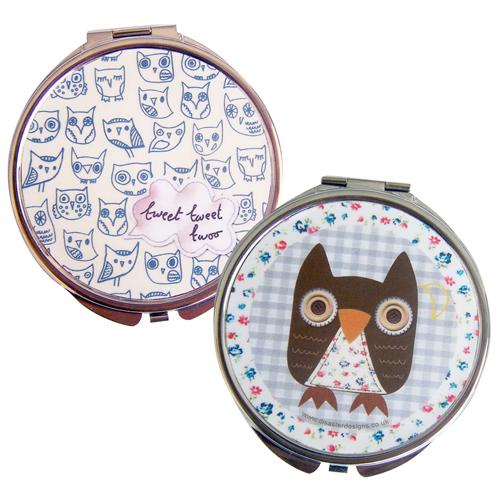 Sugar Coated Owl compact mirror