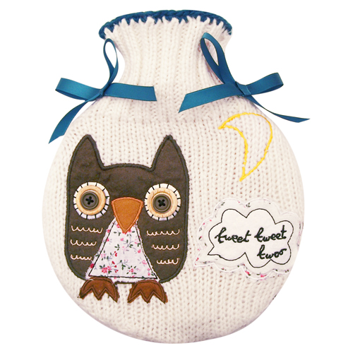 Sugar Coated Owl hot water bottle