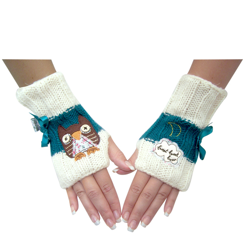 Sugar Coated Owl mittens