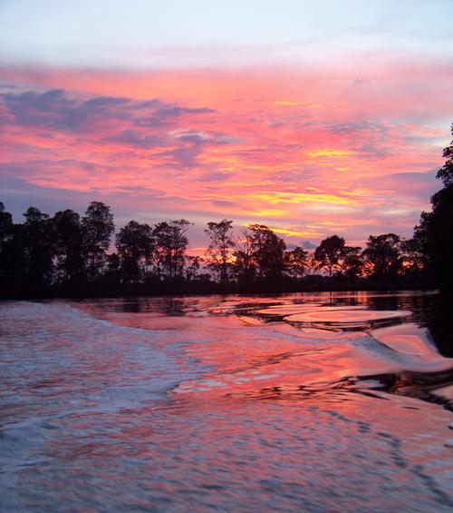 A sunset cruize