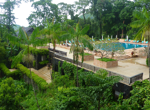 The pool at the Datai