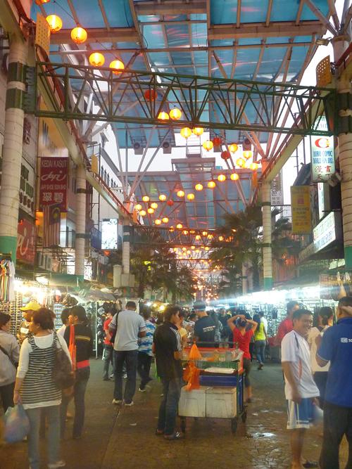 A night market in Kuala Lumpur