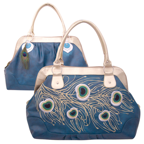 Bobbypin Peacock overnight bag