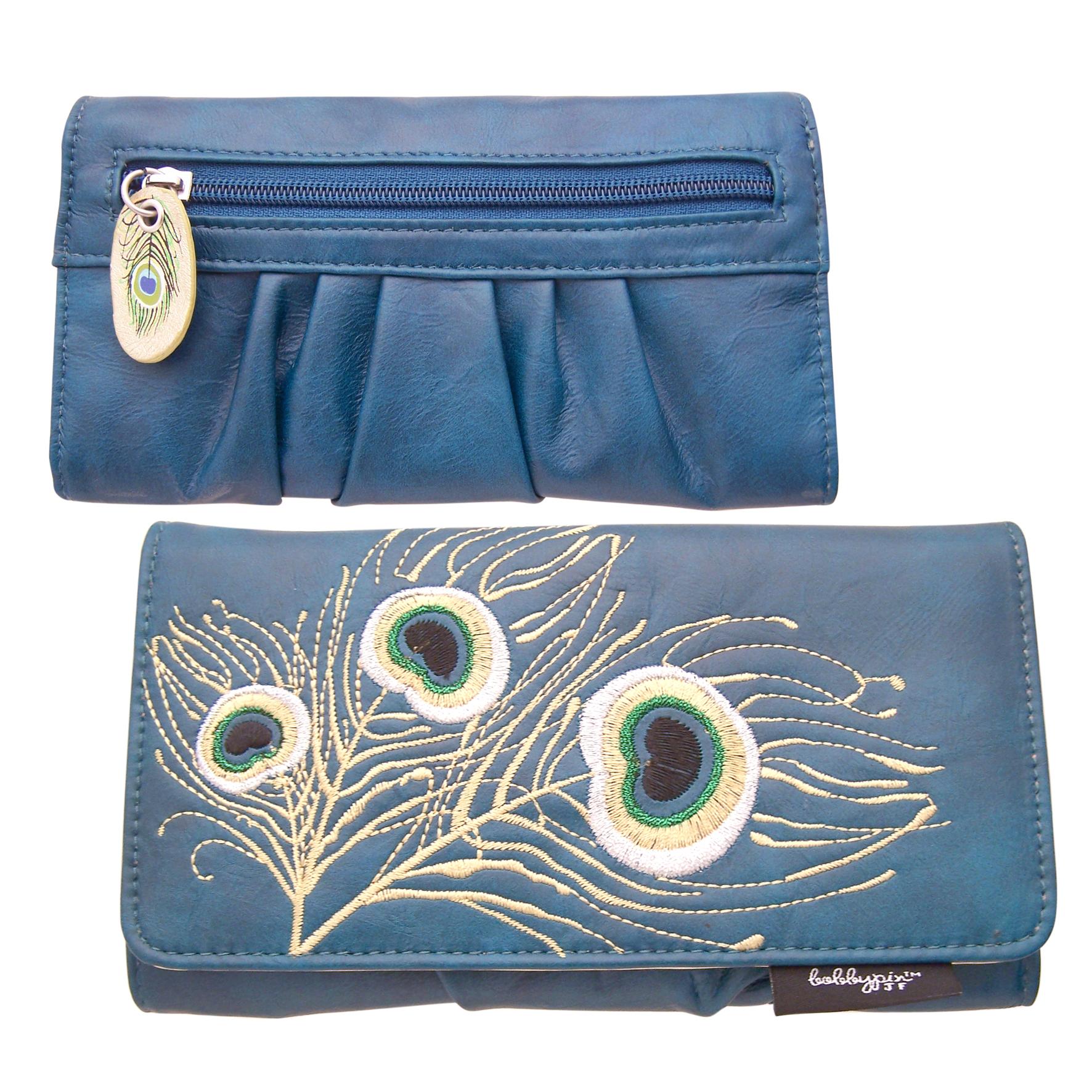 Bobbypin Peacock wallet