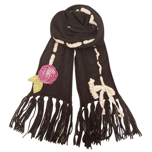 Lavish black scarf