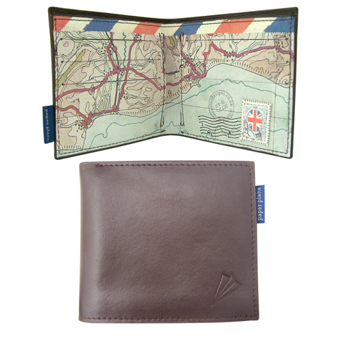 Paper Plane mens leather wallet