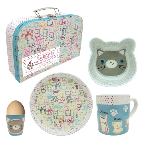 Sugar Coated Cat porcelain breakfast set