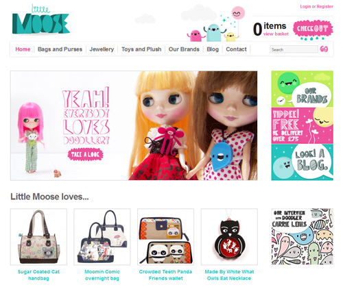 Little Moose shop homepage