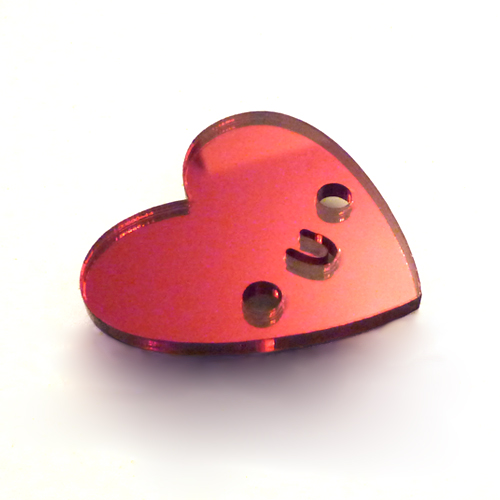 Doodllery heart brooch