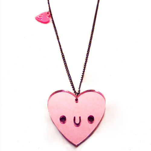Doodlery heart necklace