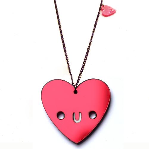 Doodlery heart necklace