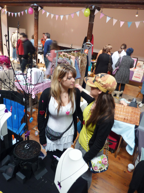 Chatting to my sister at Craftaganza