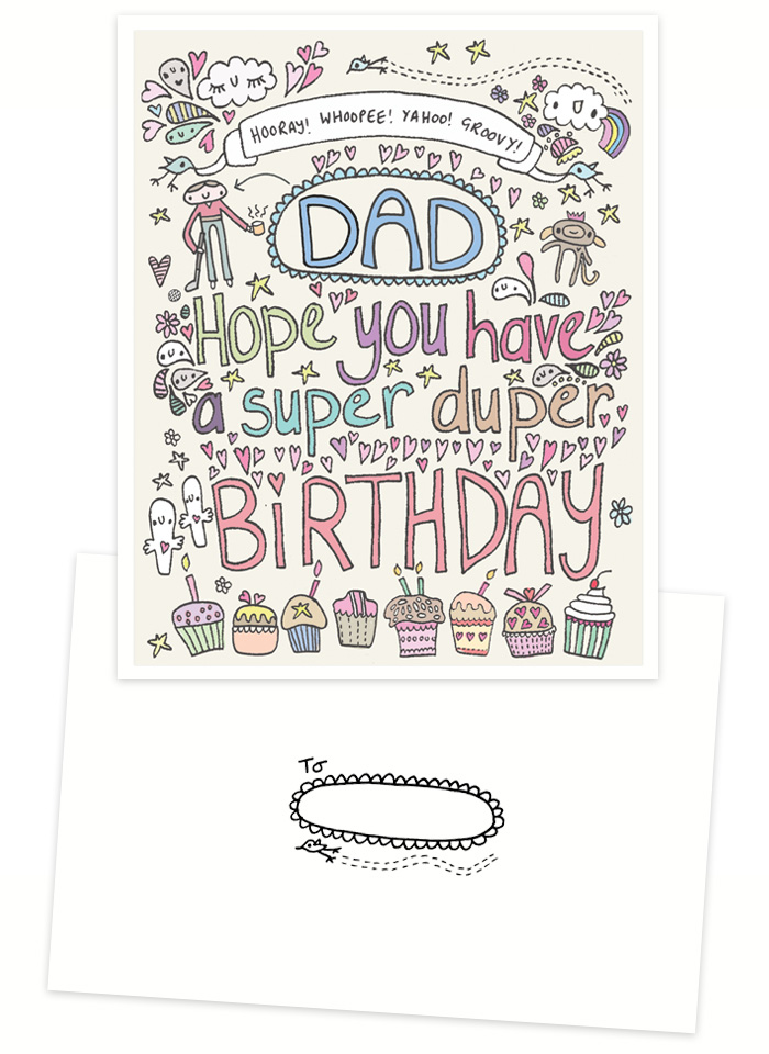 Super Duper Dad handmade birthday card