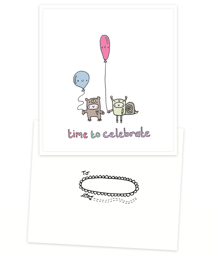 Time to Celebrate handmade card
