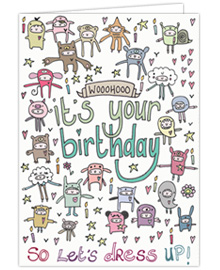 Dress Up Birthday Card