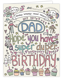 Super Duper Dad Birthday Card