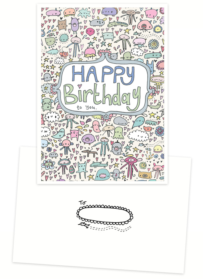 Happy Birthday to you handmade card