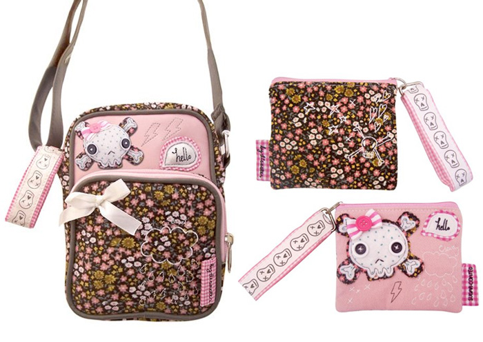 Sugar Coated Skull mini flight bag and purse