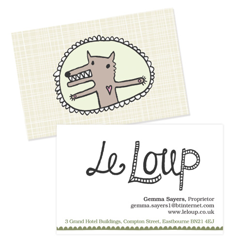Le Loup shop business card