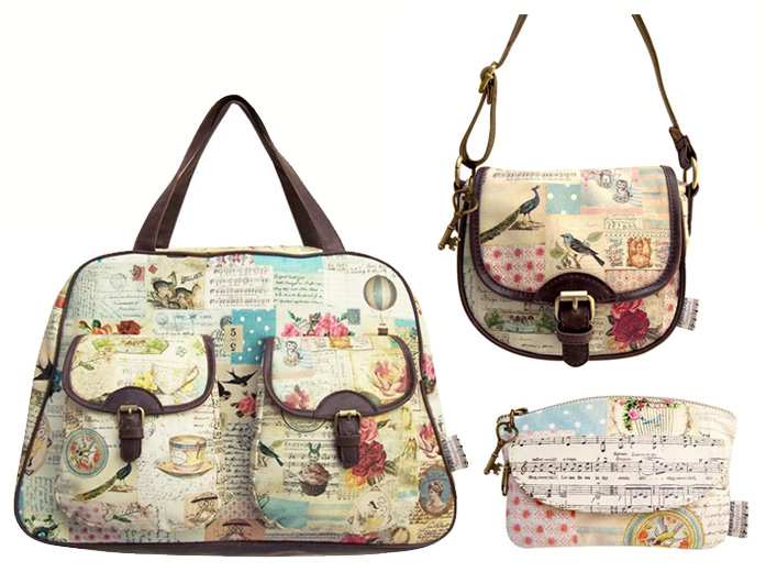 Songbird overnight bag, mini bag and make up bag