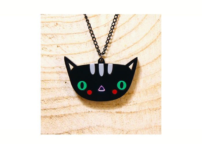 Doodllery handmade cat necklace