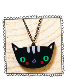 Doodllery Kitty Cat necklace