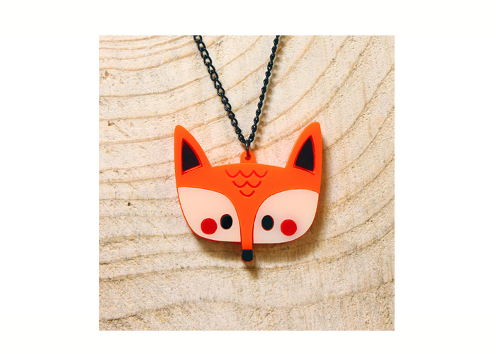 Doodllery handmade Fox necklace