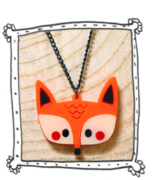 Doodllery Fox necklace