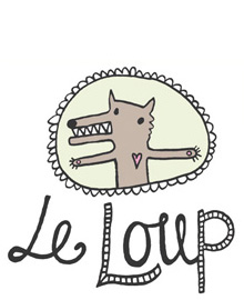 Le Loup logo and shop front